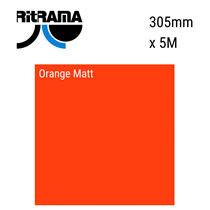 Orange Matt Vinyl 305mm x 5M
