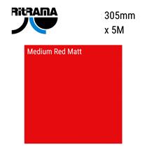 Medium Red Matt Vinyl 305mm x 5M