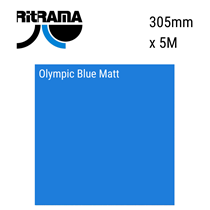 Olympic Blue Matt Vinyl 305mm x 5M