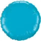 """Turquoise 18"""" Round Foil Balloon"""