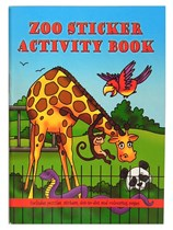 Zoo Animal Mini Sticker Activity Book