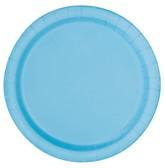 "Light Powder Blue 7"" Round Paper Plates 20pk"