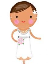 "Lovely Bride 40"" Wedding Supershape Foil Balloon"