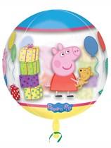 "Peppa Pig Clear Orbz 16"" Foil Balloon"