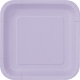 "Lavender 7"" Square Paper Plates 16pk"