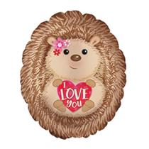 "I Love You Hedgehog 20"" Foil Balloon"