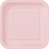 "Pastel Pink 9"" Square Paper Plates 14pk"