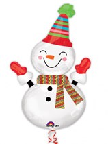 "Christmas Snowman 36"" SuperShape Foil Balloon"
