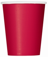 Value Pack Ruby Red 9oz Paper Cups 14pk