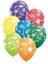 """Asst'd Colour Aliens 11"""" Latex Balloons 25pk"""