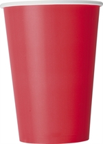 Ruby Red 12oz Large Paper Cups 10pk