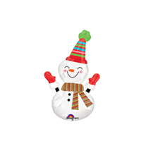 "Christmas Snowman 14"" Mini Shape Foil Balloon"