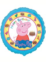 "Peppa Pig Happy Birthday 18"" Foil Balloon"