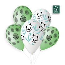 "Panda Bamboo & Spirals 13"" Latex Balloons 5pk"