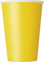 Sunflower Yellow 12oz Large Paper Cups 10pk