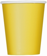Value Pack Sunflower Yellow 9oz Paper Cups 14pk