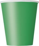 Emerald Green 9oz Paper Cups 8pk