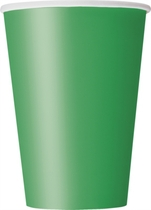Emerald Green 12oz Large Paper Cups 10pk