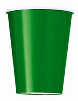 Value Pack Emerald Green 9oz Paper Cups 14pk
