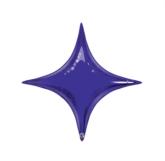 """Quartz Purple 20"""" Starpoint Foil Balloon - Air Fill"""