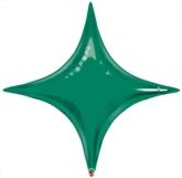 "Emerald Green 40"" Starpoint Foil Balloon"