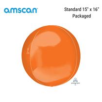 "Orange 15"" Orbz Foil Balloon (Pkgd)"