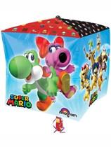 """Super Mario 15"""" Cubez Foil Balloon"""
