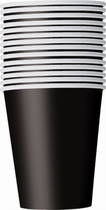 Value Pack Midnight Black 9oz Paper Cups 14pk