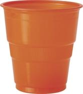 Pumpkin Orange 9oz Plastic Cups 12pk