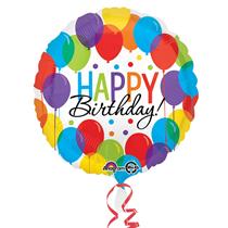 "Happy Birthday Balloon Bash 18"" Foil Balloon"