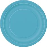 "Caribbean Teal 7"" Round Paper Plates 8pk"