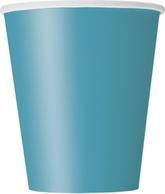Caribbean Teal 9oz Paper Cups 8pk