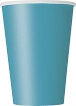 Caribbean Teal 12oz Large Paper Cups 10pk