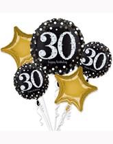 Sparkling 30th Birthday Foil Balloon Bouquet