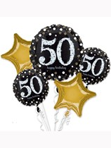 Sparkling 50th Birthday Foil Balloon Bouquet