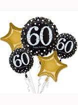 Sparkling 60th Birthday Foil Balloon Bouquet