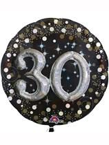 "Gold Celebration 30th Birthday 3D Supershape 36"" Foil Balloon"