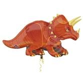 "Triceratops Dinosaur 42"" Supershape Foil Balloon"