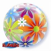 "Fanciful Flowers Bubble Balloon 22"""