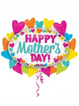 Happy Mother's Day Marquee Supershape Foil Balloon