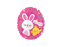 """Easter Bunny & Chick 9"""" Mini Air Fill Foil Balloon"""