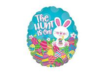 """Mini Easter Egg Hunt 9"""" Air Fill Foil Balloon"""