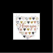 """Valentine Grabo 9"""" Rose Gold Heart Foil Balloon"""