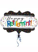 """Happy Retirement 27"""" Supershape Foil Balloon"""