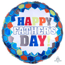 """Happy Father's Day Burst 18"""" Foil Balloon"""