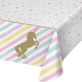 Unicorn Sparkle Plastic Rectangular Tablecover
