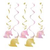 Unicorn Sparkle Hanging Decorations 5pk