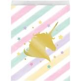 Unicorn Sparkle Foil Stamped Paper Treat Bags 10pk