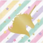 Unicorn Sparkle Foil Stamped Beverage Napkins 16pk
