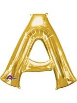 "34"" Gold Letter A Foil Balloon"